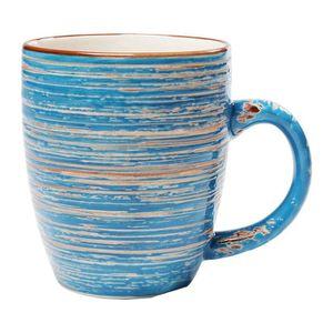 SERVICE À THÉ - CAFÉ Mugs Swirl Blue set de 4 Kare Design
