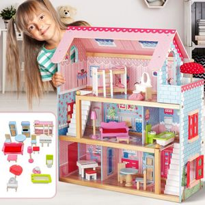 MAISON POUPÉE Maison de Barbie Pas Cher Maison Poupée en Bois