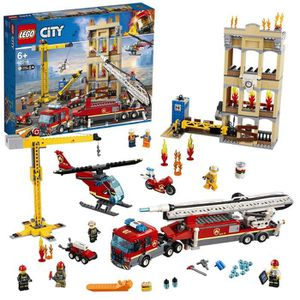 ASSEMBLAGE CONSTRUCTION LEGO City - Les pompiers du centre-ville - 60216 -