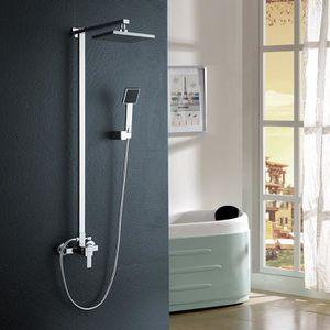 /1265/mm Auralum/® Colonne de douche murale avec pommeau pluie rond et douchette /à main 880/