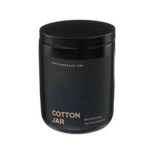STATUE - STATUETTE Five - Pot à Coton en Polyrésine noir collection B