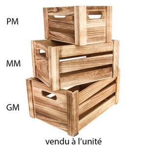 BOITE DE RANGEMENT Cagette bois 34.5x24.5x18cm
