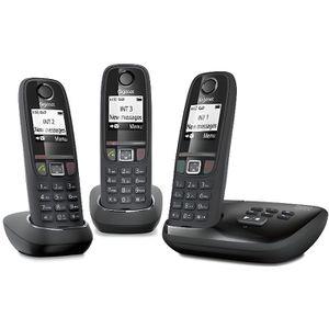 Téléphone fixe Gigaset AS470A Trio Noir - Téléphone DECT - Répond