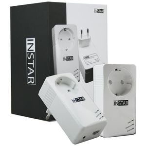 COURANT PORTEUR - CPL INSTAR 2 Adaptateurs CPL IN-LAN 500P 500Mbps Blanc