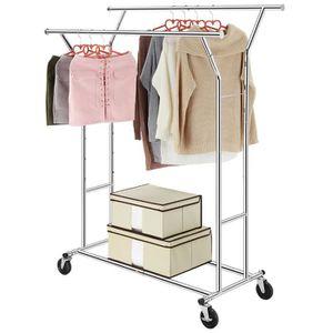 PENDERIE MOBILE LANGRIA Porte-Vêtements Penderie à Vêtement sur Ro