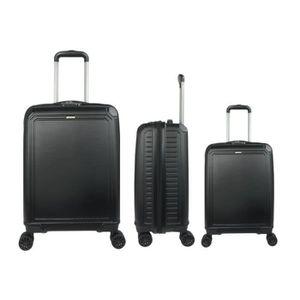 LYS Set de 3 Valises Rouge Rigide ABS 4 Roues doubl/ées 55-66-76cm