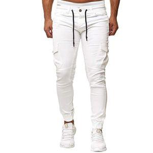 PANTALON Pantalon homme de sport coupe slim elastique casua