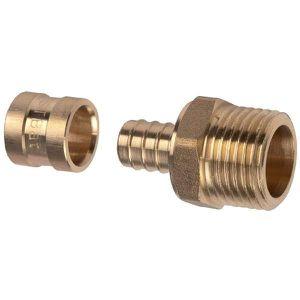 COLLIER - BRIDE - FIXATION Raccord PER droit à glissement - M 3/8' - Ø 12 mm