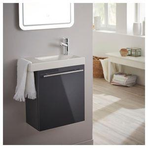 LAVE-MAIN Lave mains anthracite brillant pour wc avec robine