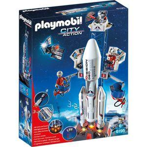 UNIVERS MINIATURE PLAYMOBIL 6195 Base de lancement avec fusée