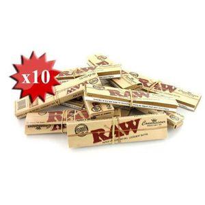 FEUILLE À ROULER papier à rouler raw slim + tips x 10