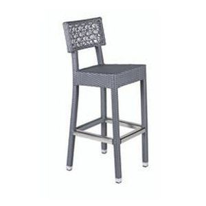 tabouret de bar tresse isis gris metal achat vente fauteuil jardin tabouret de bar tresse. Black Bedroom Furniture Sets. Home Design Ideas