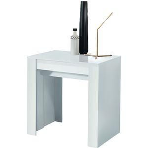 CONSOLE EXTENSIBLE Console Extensible 4 allonges Laqué blanc - TINO -