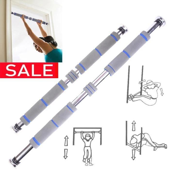 60-100cm-barre horizontale poignée murale intérieure équipement de fitness à domicile sport barre horizontale-gris