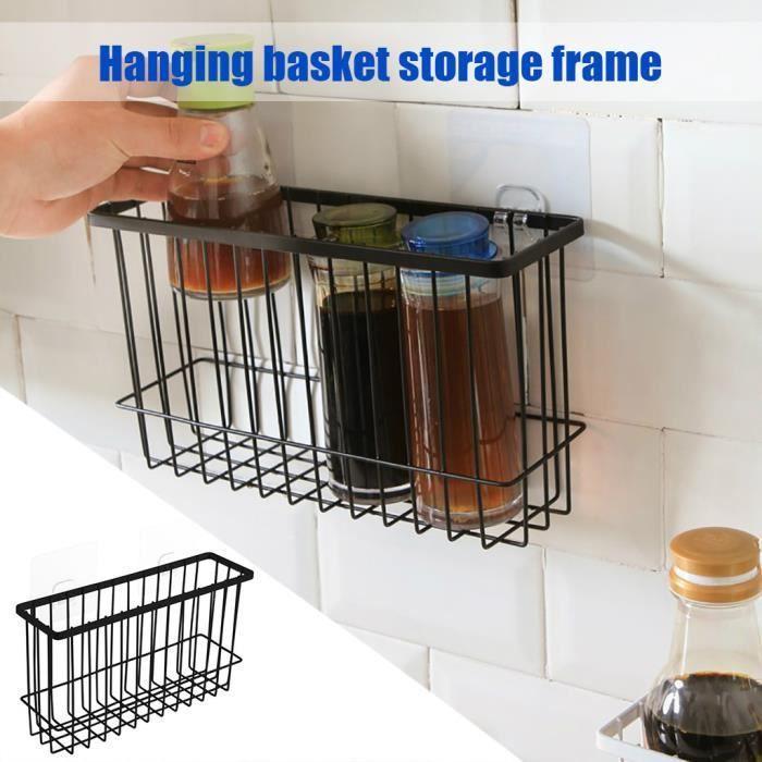 Organisateur de maille de support de stockage de casier de stockage de panier de fil de fer de salle de bains de cuisine