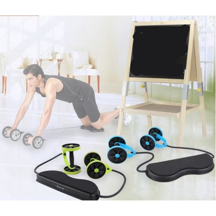 Abdominale Minceur Formateur Exerciseur Ab Rouleau Core Double Ab Roue Fitness Entraînement À Domicile Outil Matériel De Gymnastique