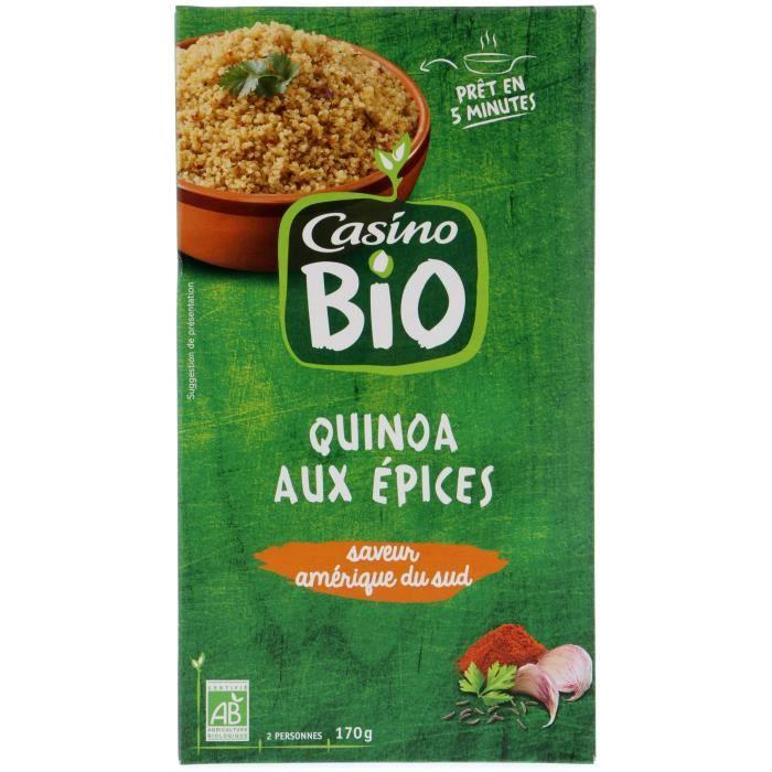 CASINO Mélange céréales aux épices saveur Perou Bio - 170G