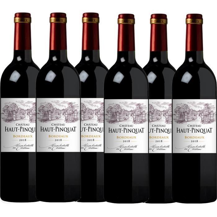 Château Haut Pinquat 2018 - vin rouge - Bordeaux AOC rouge - lot de 6 bouteilles.