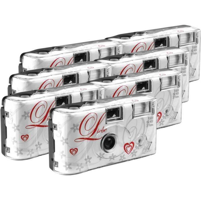 Appareil photo jetable Love White 7 pc(s) avec flash intégré - PACK APPAREIL PHOTO JETABLE