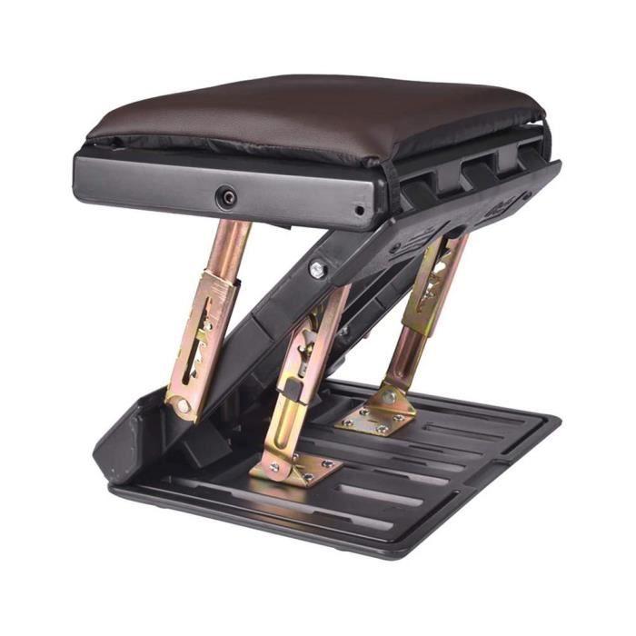 Pédalier,Repose pieds pliable Portable multifonctionnel réglable voiture repose pieds ordinateur bureau trépied - Type Brown