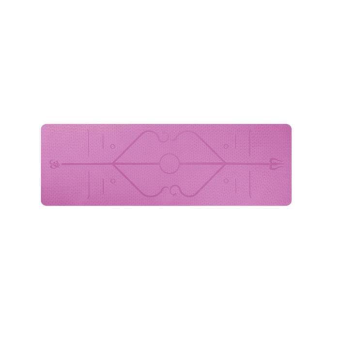 Tapis de yoga TPE, accessoires de gymnastique et de fitness, avec ligne de positionnement, antidérapant, adapté aux débutants