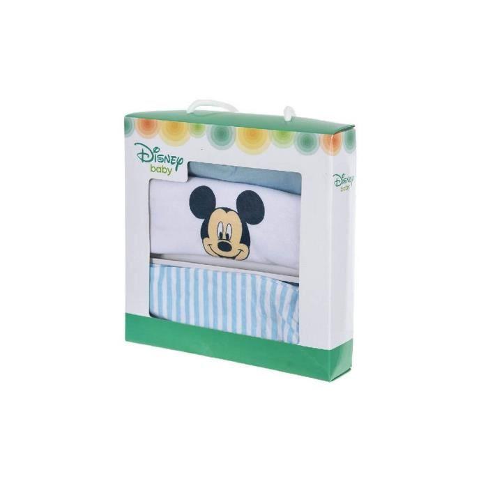 Coffret Cadeau Bébé Disney Garcon Mickey 3 pièces de la naissance à 3 mois - Bleu