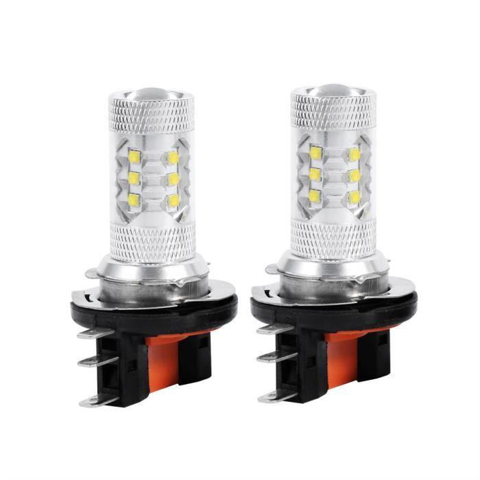 Fdit lampe 80W 2pcs HID Blanc 80W H15 LED Ampoules Lumières Lampe