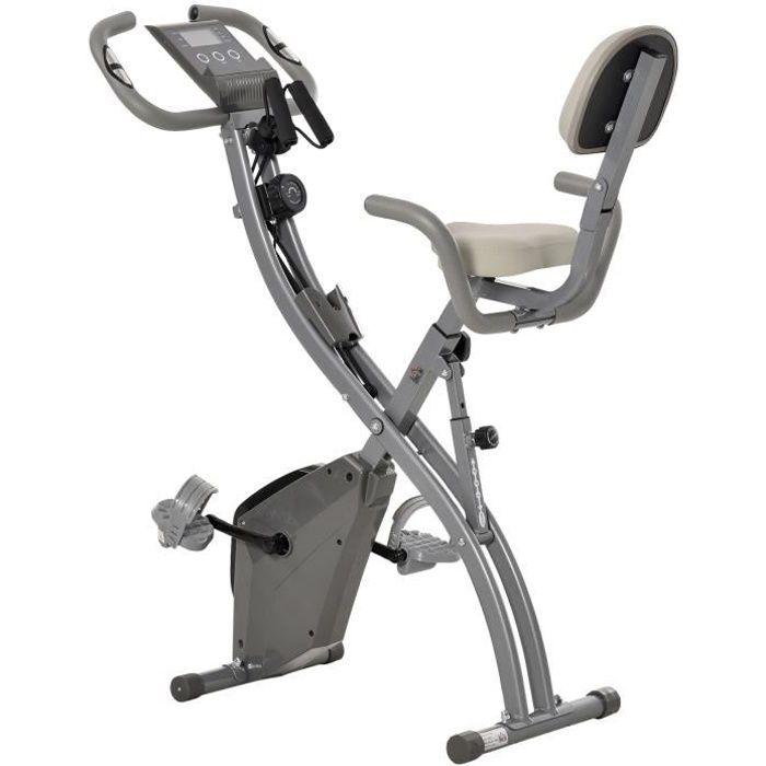 Vélo d'appartement cardio Fit 97x51x115cm Gris