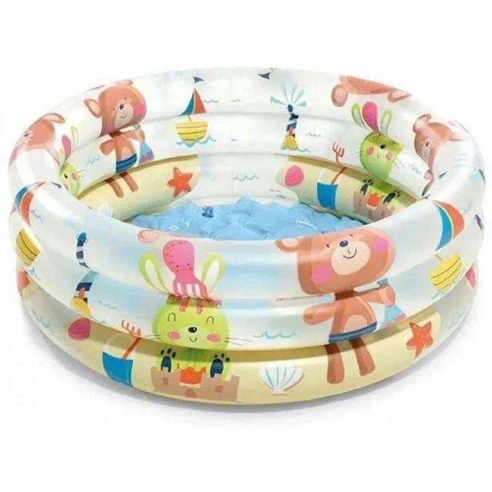 piscine pour bébé 3 anneaux, 61x22 cm, 57106, couleurs et modèles assorties