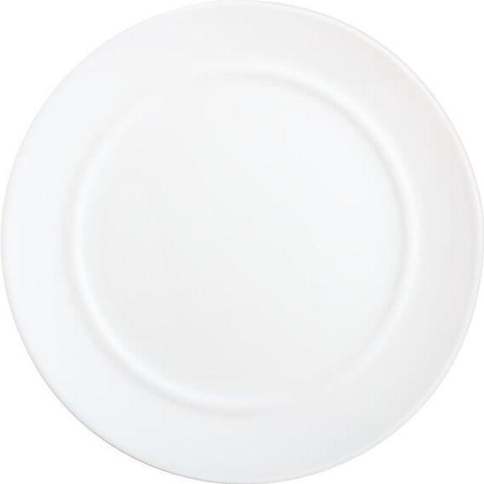 Assiette plate blanche 25 cm - Alexie Blanc - Luminarc