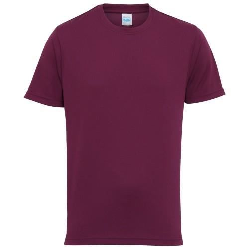 T-shirt performance uni Just Cool - Homme Prune