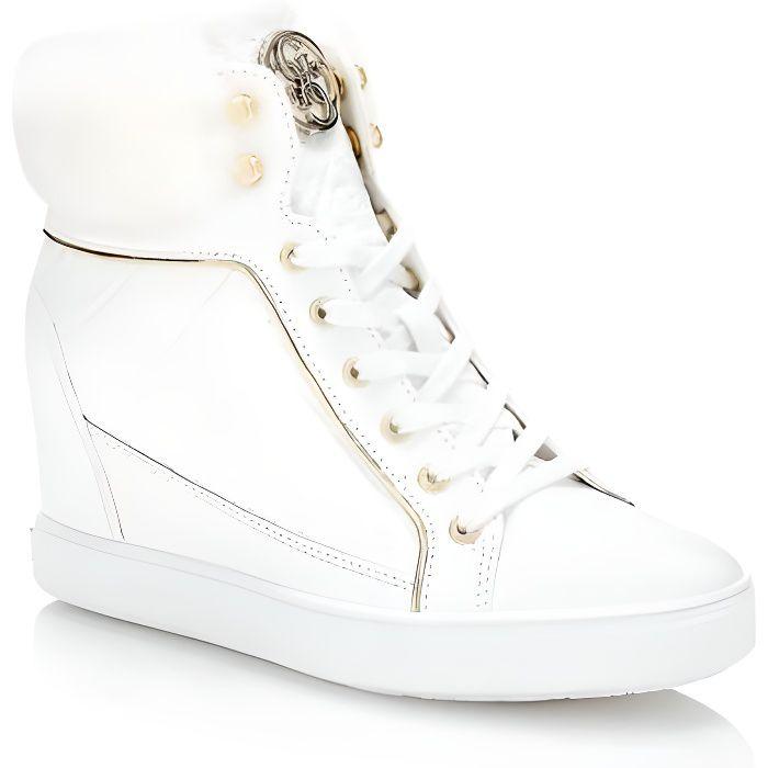 Guess Baskets Femme Fur Blanc