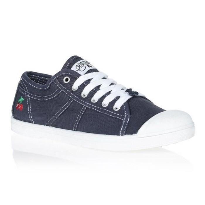 LE TEMPS DES CERISES Chaussures Basic 02 Indigo Bleu/Blanc Femme
