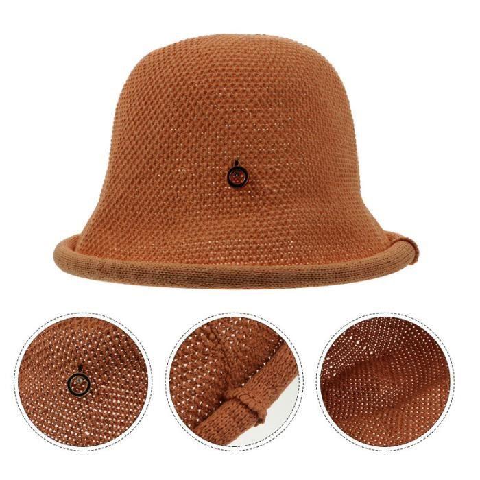 Chapeau de godet de coton casquette été femmes chapeau de randonnée en plein air