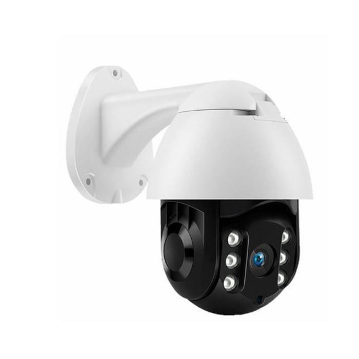 caméra de suivi automatique Équipement étanche de détection de mouvement extérieur blanc, mémoire de 32 Go avec prise d'alimentation