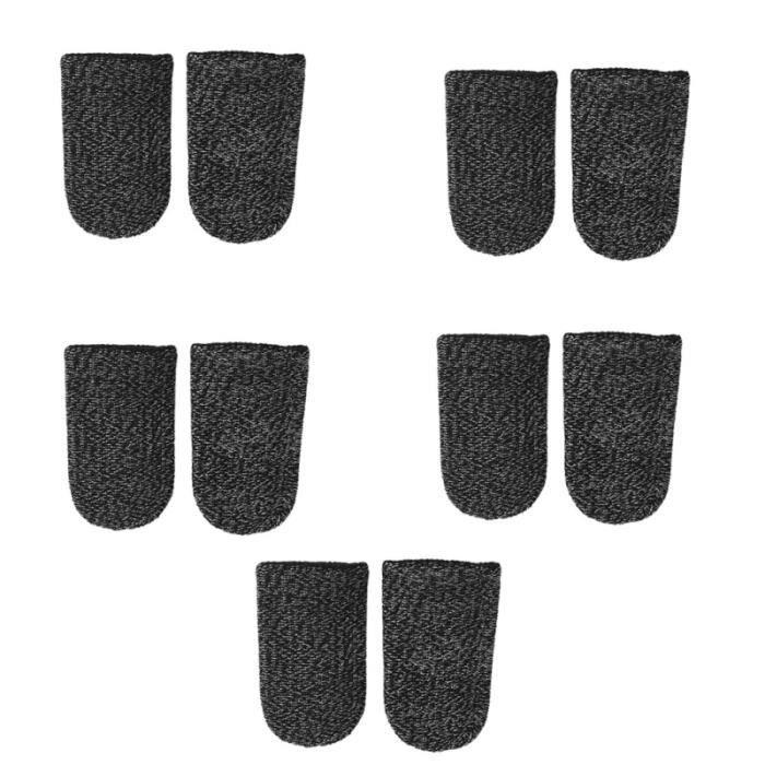10 pièces manchon de doigt élastique Durable contrôleur de jeu de écran tactile couverture de pour femmes adultes hommes