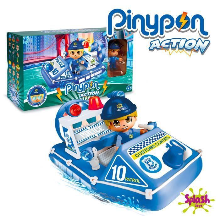 Pinypon Action - Le bateau de police - 1 figurine incluse