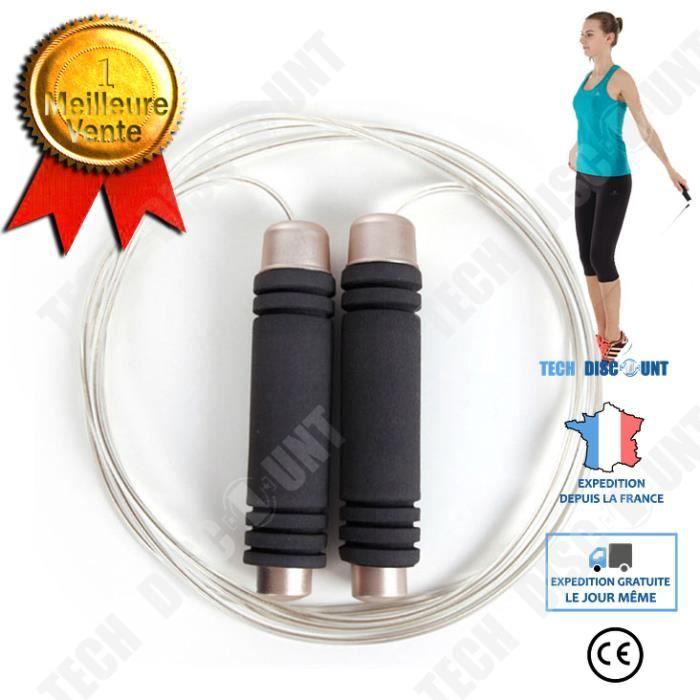 TD® Corde à sauter cordes à sauter enfants Sport exercice vitesse gymnase maison Fitness Équipement de fitness