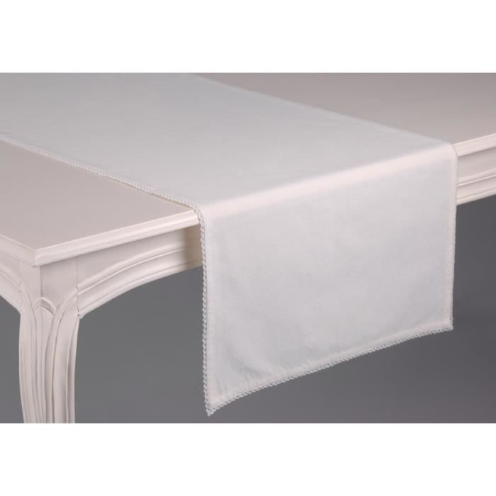 chemin de table blanc cass achat vente chemin de table cdiscount. Black Bedroom Furniture Sets. Home Design Ideas