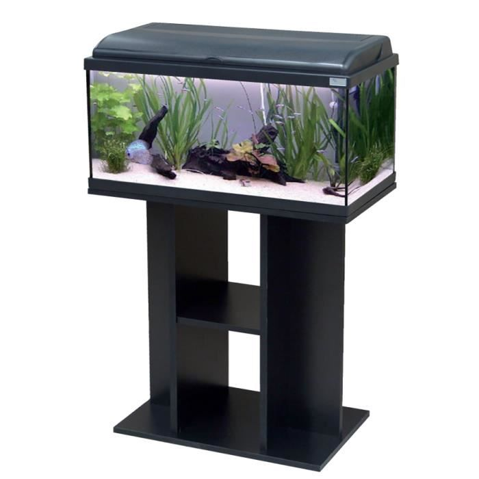 Ensemble aquarium aquadream 80 noir led meuble achat for Meuble 60x40