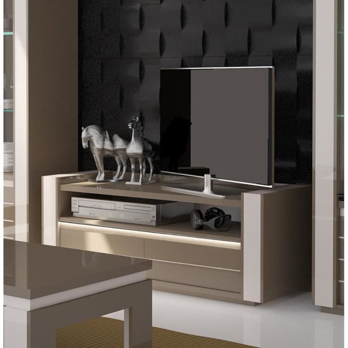 Ensemble pour votre salon lina meuble tv hifi 1 vitrine for Ensemble salon blanc
