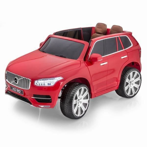 voiture lectrique 2 places 12v volvo xc90 rouge pack luxe achat vente voiture enfant. Black Bedroom Furniture Sets. Home Design Ideas