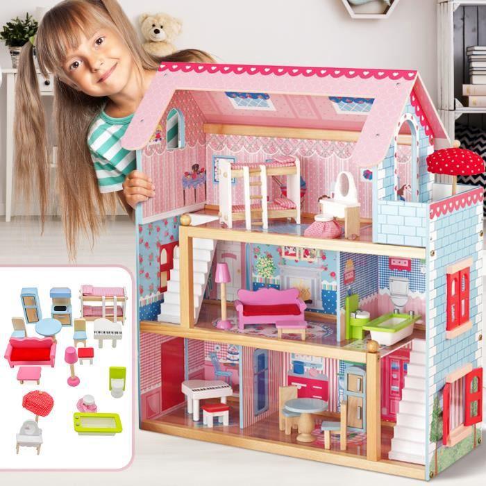 Maison De Barbie Pas Cher Maison Poupee En Bois Achat Vente