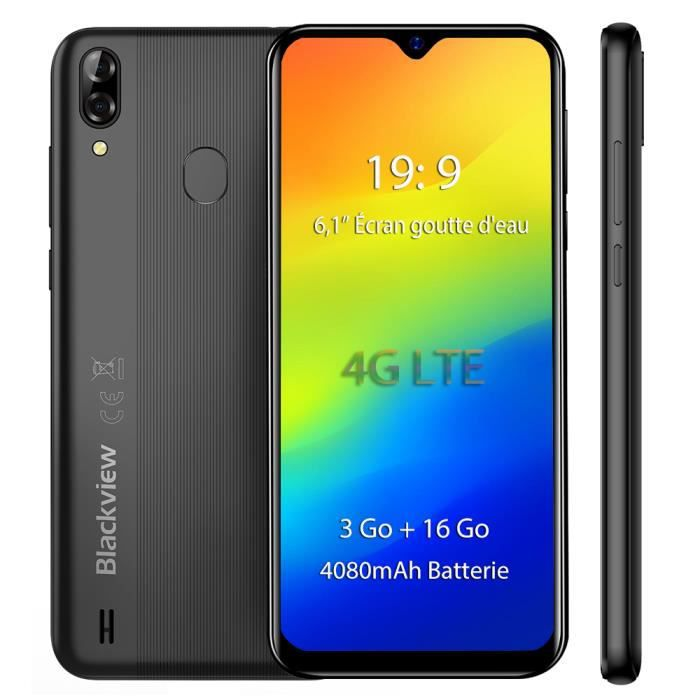 """SMARTPHONE Smartphone 4G Blackview A60 Pro 6.1"""" Écran Télépho"""