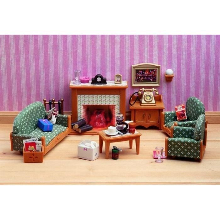 sylvanian la salle de s jour de luxe de sylvanian. Black Bedroom Furniture Sets. Home Design Ideas