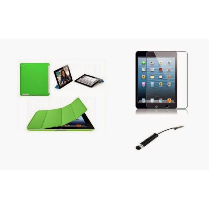coque etui smart cover ipad mini 2 3 vert film achat housse tui pas cher avis et. Black Bedroom Furniture Sets. Home Design Ideas