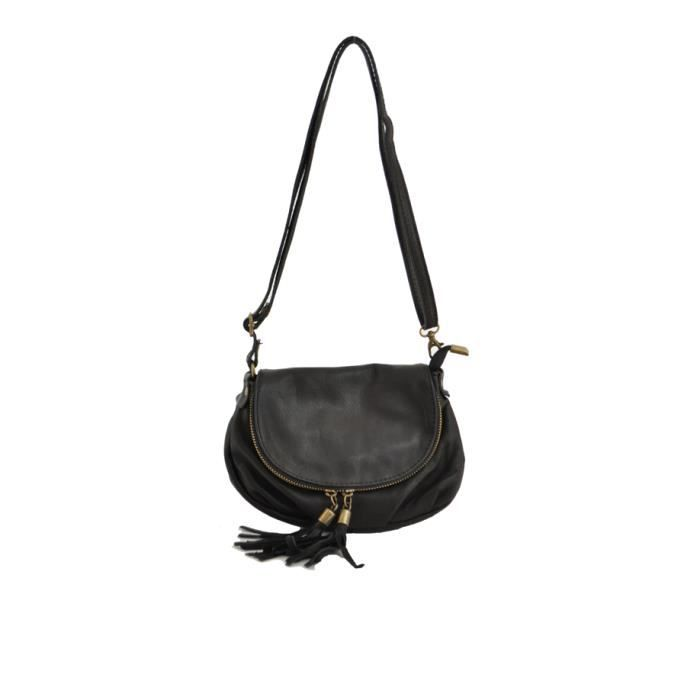 Sac bandouli re port travers en cuir de la mar achat for Meuble porte sac