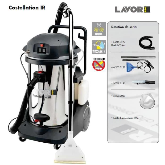lavor pro aspirateur injecteur extracteur 2400w max. Black Bedroom Furniture Sets. Home Design Ideas