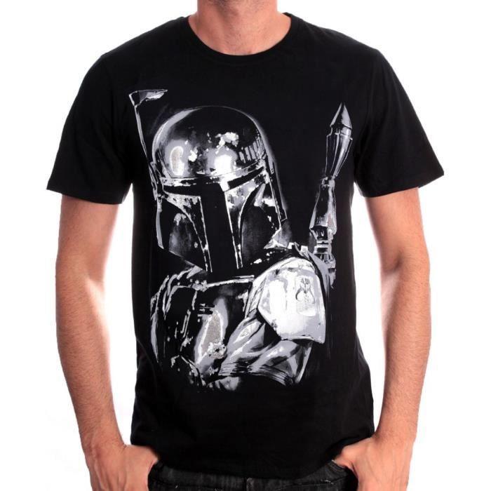 T-SHIRT Tshirt homme Star Wars - Boba Fe...
