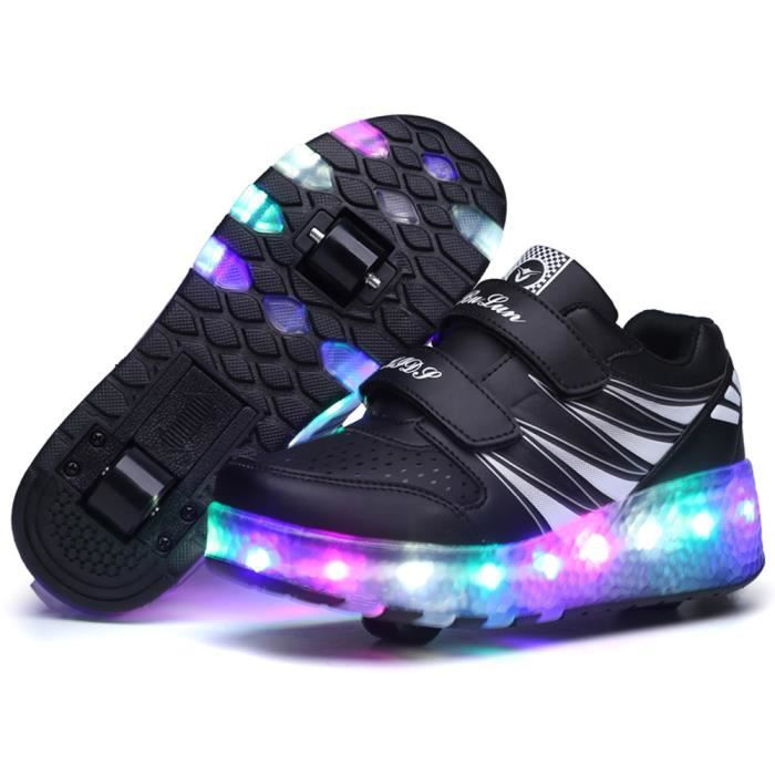 baskets enfants led chaussures lumineuse roulettes gar ons filles sneakers automatique de. Black Bedroom Furniture Sets. Home Design Ideas